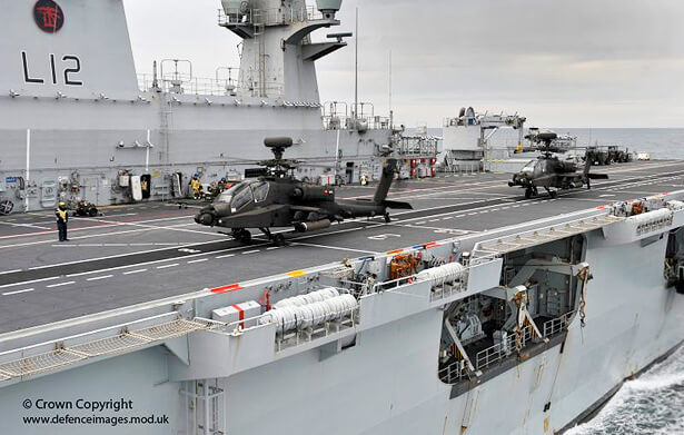 Apache Attack Helicopter Takes Off from HMS Ocean by Defence Images, on Flickr